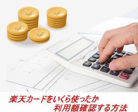 楽天カードをいくら使ったか利用額確認する方法
